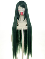 100cm Harukanaru Toki no Nakade Abeno Yasuaki Lucky Star Green Long Straight Halloween Wigs Synthetic Wigs Costume Wigs