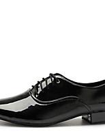 Chaussures de danse(Noir) -Non Personnalisables-Talon Bas-Similicuir-Latine