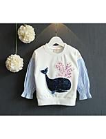 Girl's Casual/Daily Animal Print Hoodie & SweatshirtCotton Spring / Fall White