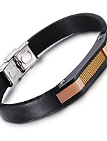 Kalen® Hot Sale New Retro Jewelry Wholesale  Stainless Steel Cool Charm Leather Bracelet Bangle Wristband For Men
