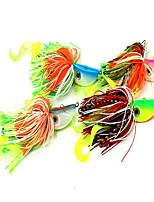 1 pcs Leurre Buzzbait & Spinnerbait Leurre Buzzbait & Spinnerbait Couleurs Aléatoires 60 g Once mm pouce,Silicone Pêche d'appât
