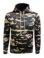 Men's Casual/Daily Simple Boho Hoodie Print Round Neck Micro-elastic Polyester Long Sleeve Fall