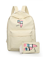 Casual Backpack Women Canvas White Pink Blue Red Black