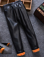 Girl Casual/Daily Solid Pants-PU Winter