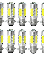 Jiawen10pcs/lot 7.5W PX15D5 Led Motorcycle Headlight Bulbs Moped Scooter Motobike Headlamp
