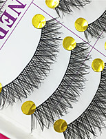 Eyelashes lash Full Strip Lashes Eyes Crisscross Lifted lashes Handmade Fiber Black Band 0.10mm 12mm