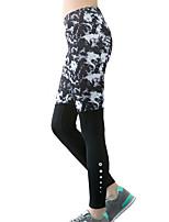 Pantalon de yoga Collants / Bas Séchage rapide / Isolé / Compression / Confortable Taille basse Haute élasticité Vêtements de sport Gris