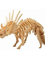 Пазлы Деревянные пазлы Строительные блоки DIY игрушки Динозавр 1 Дерево Со стразами Модели и конструкторы