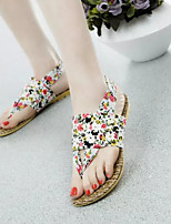 Women's Sandals Summer Comfort PU Casual Flat Heel Flower Blue White Royal Blue Others