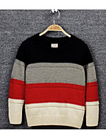 Boy's Casual/Daily Striped Sweater & CardiganCotton Winter / Spring / Fall Black