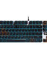 Игровая клавиатура эргономичная клавиатура механической подсветкой черный вал программируемые 87keys нет конфликта