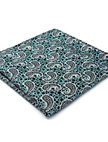 New Mens Pocket Square Hanky Handkerchief Light Green Paisley Casual Business