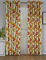 Um Painel Tratamento janela Designer , Flor Sala de Estar Poliéster Material Cortinas cortinas Decoração para casa For Janela
