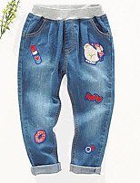 Girl's Casual/Daily Print PantsCotton Spring / Fall Blue