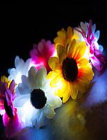 acender led coroa da flor crisântemo emissor de artigos do feriado cabeça levou luz headwear dia das bruxas natal