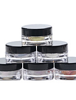 6PCS  Nail art The magic mirror powder The laser The chameleon Fine powder The effect (1#2#)