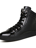 Men's Boots Spring / Fall Comfort PU Casual Flat Heel Black / Silver Sneaker