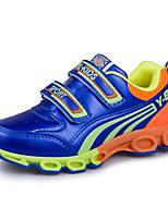 Boy's Sneakers Spring / Fall Comfort PU Casual Flat Heel Magic Tape Blue / Red Sneaker