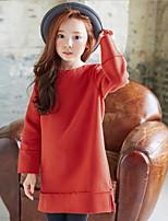 Girl's Casual/Daily Solid Hoodie & SweatshirtCotton Winter / Fall Orange
