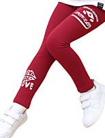 Pantalons Fille Décontracté / Quotidien Couleur Pleine Coton Printemps / Automne