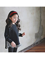 Girl's Casual/Daily Solid Blouse / Hoodie & SweatshirtCotton Winter / Fall Black / Red
