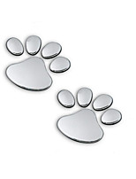 Car 3D Car Stereo Footprints Bear Footprints Type Car Decoration