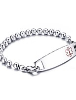 Men's ID Bracelets Jewelry Party/Birthday/Daily/Casual Fashion Stainless Steel White 1pc Gift