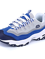 Women's Athletic Shoes Spring / Fall Mary Jane Suede Outdoor / Athletic Flat Heel Lace-up Blue / Green Sneaker