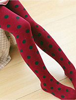 Girl's Casual/Daily Polka Dot LeggingsCotton Spring / Fall Green / Red