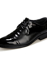 Men's Oxfords Spring Fall Comfort PU Party & Evening Casual Flat Heel Lace-up Others Black