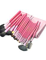 20 Makeup Brushes Set Goat Hair Professional / Portable Wood Face / Eye / Lip Pink