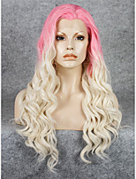 imstyle 24pink блондинка ломбера синтетические кружева парики фронта высокой теплостойкость волокна
