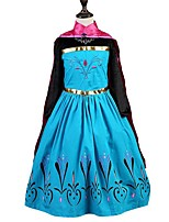 Girls Princess Birthday Party Cosplay Costume  Dress Christmas Princess Dress Up Fancy Dress Cocktail Solid Dress
