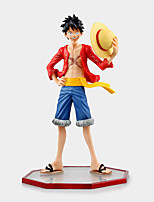 One Piece Monkey D. Luffy PVC 15cm Anime Čísla akce Stavebnice Doll Toy