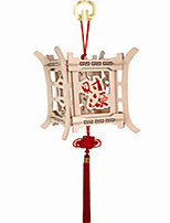 Source of Money Widely Enter Palace Lantern 3 d Wooden Stereo DIY Assembly Model Educational Toys