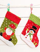 2pcs noël bas de Noël bas de Noël sac cadeau décorations de noël (style aléatoire)