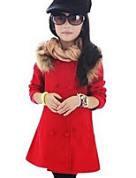 Girl's Casual/Daily Solid Suit & BlazerCotton Winter / Fall Pink / Red