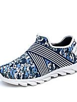 Men's Loafers & Slip-Ons Spring / Fall Comfort PU Casual Flat Heel Slip-on Black / Blue / Green Sneaker