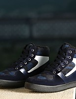 Men's Flats Comfort PU Casual Black Blue