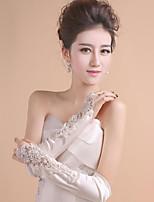 K lokti Bez prstů Rukavice Polyester Pro nevěstu