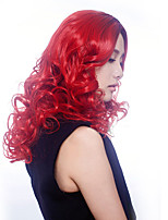 Europe and the United States Popular Wig Red Wavy Wig