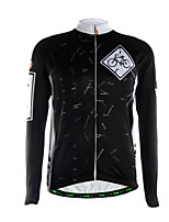 Sports Cycling Jersey Men's Long Sleeve Breathable / Thermal / Front Zipper / Back Pocket / Ultra Light Fabric Bike