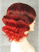IMSTYLE 11''Fashion Short Wave Top Quality Synthetic Wigs Lace Front Can Be Curled