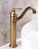 Deck Mounted Rotatable with Ceramic Valve Single Handle One Hole for Antique Brass , Kitchen faucet