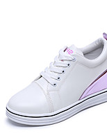 Women's Sneakers Fall Winter Comfort PU Casual Platform Lace-up Black Pink Walking