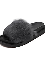 Women's Slippers & Flip-Flops Winter Slingback Rubber Casual Flat Heel Black / Gray
