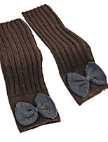 BOWKNOT женские перчатки (кофе синий цветок)