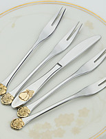 5-Piece Slap-Up Western Restaurant The Kitchen Utensils Stainless Steel Dinner Fork Dinner Knife Spoons  Forks Knives