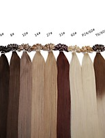 Neitsi 20 Inch 1g/s 100g Ombre Keratin Fusion Nail U Tip Straight 100% Human Hair Extensions