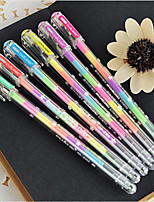 0.8Mm Dazzle Colour 6 Color Fluorescent Pen(6PCS)
